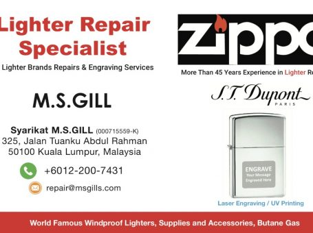 M.S.Gill Kedai Repair Lighters Zippo & Fountain Pens